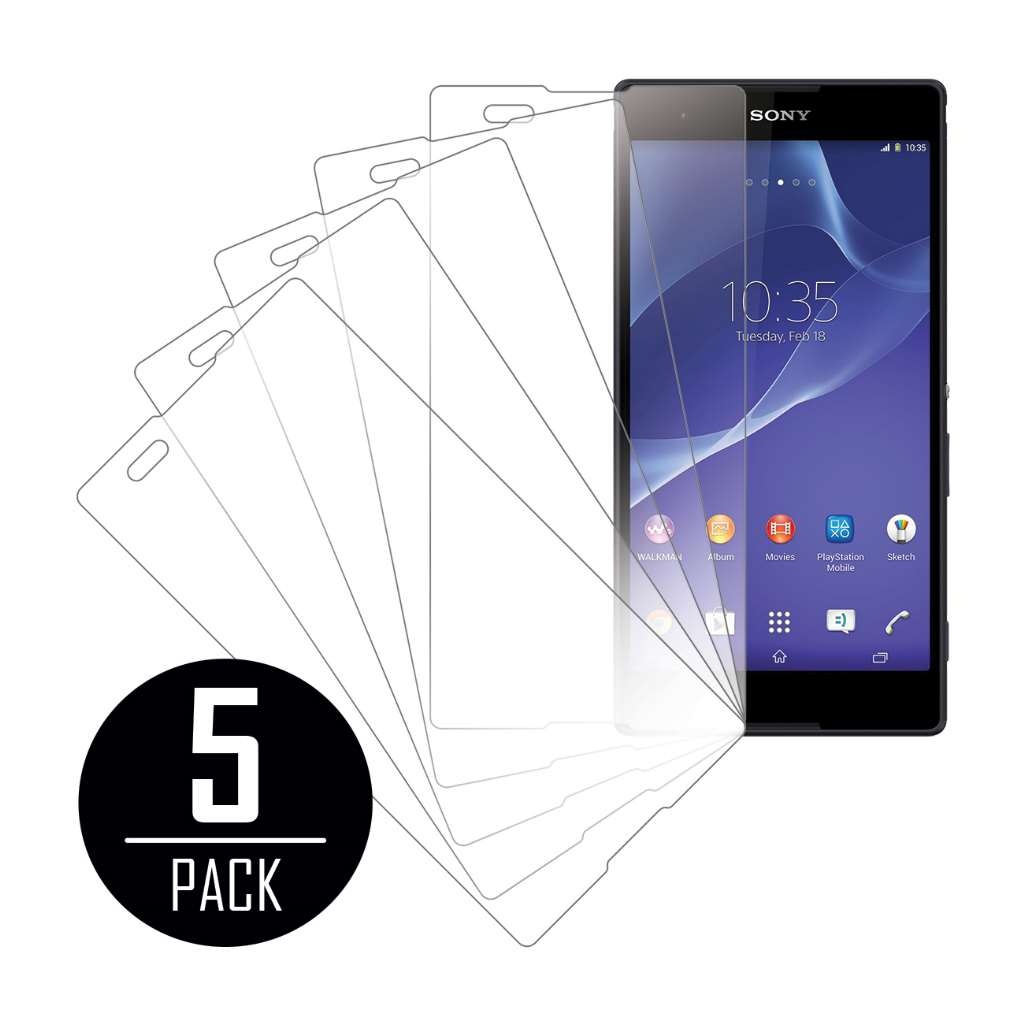 Sony Xperia T2 Ultra MPERO 5 Pack of Clear Screen Protectors