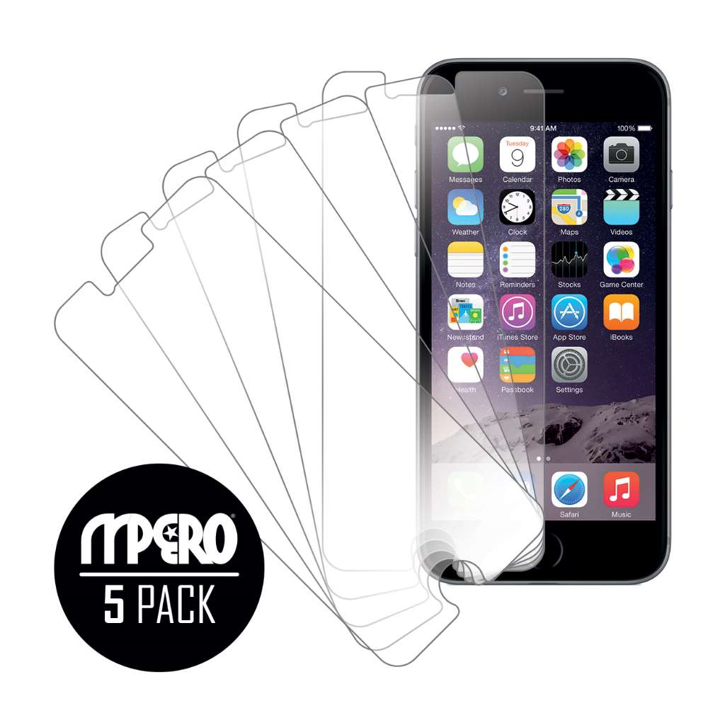 Apple iPhone 6 / 6S MPERO 5 Pack of Ultra Clear Screen Protectors