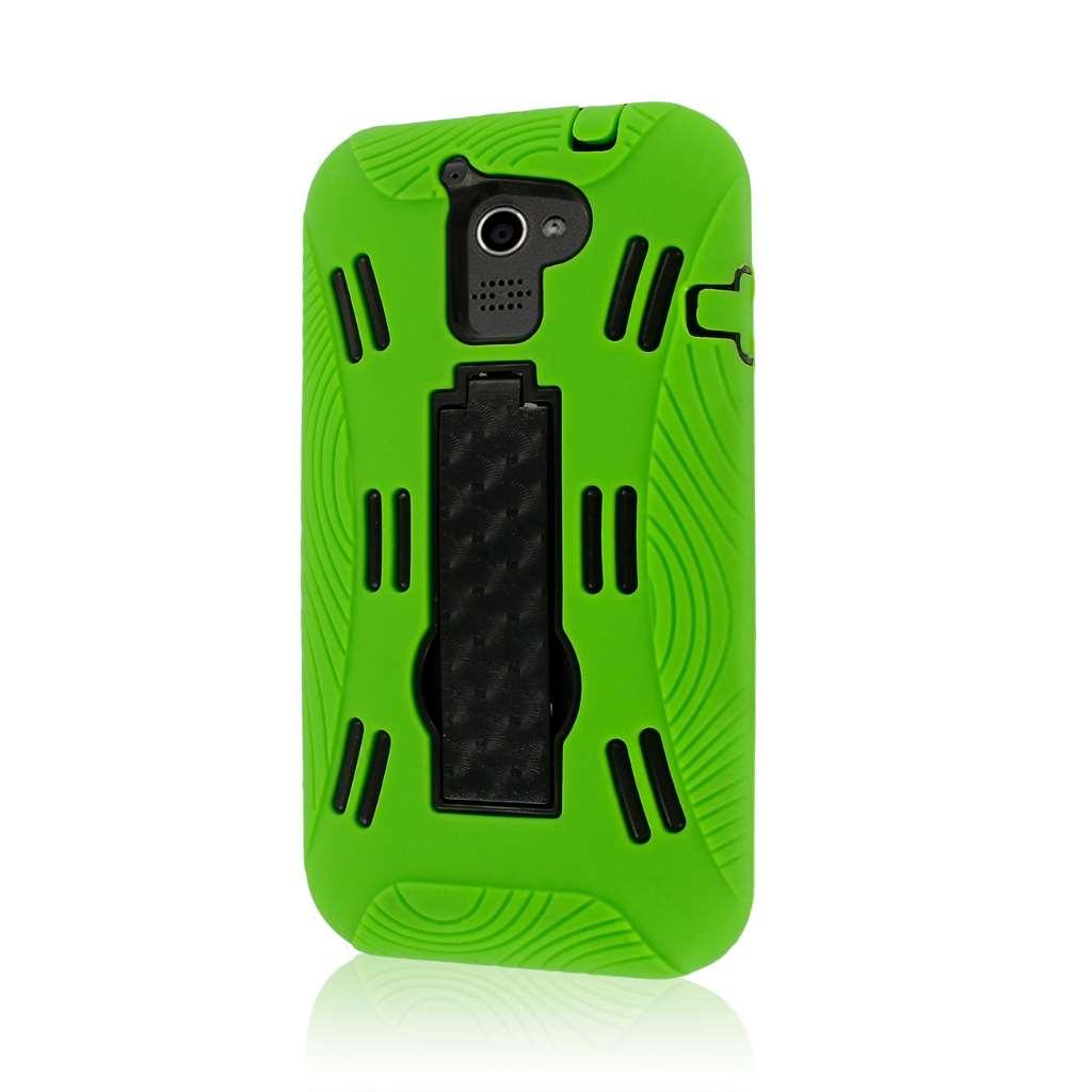 Huawei Premia 4G M931 - Neon Green MPERO IMPACT XL - Kickstand Case Cover