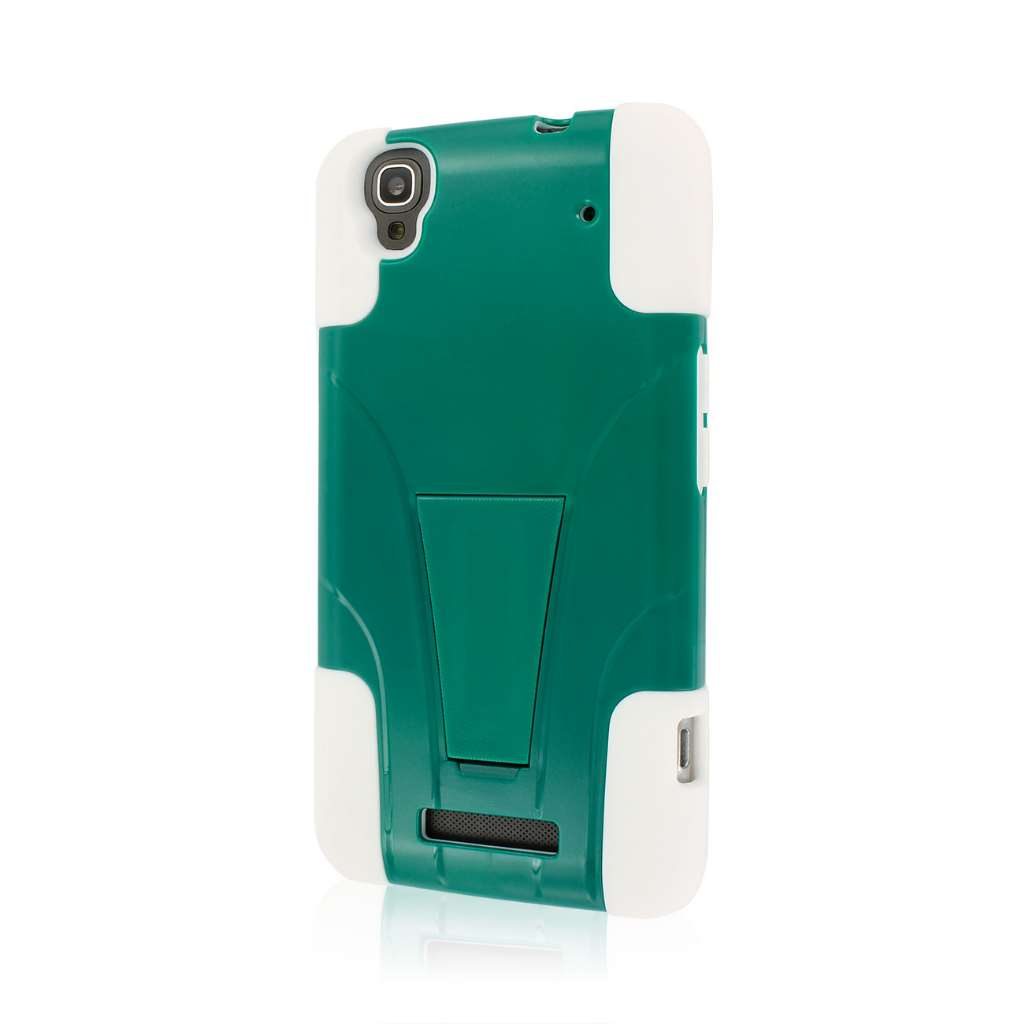 ZTE Max - TEAL GREEN MPERO IMPACT X - Kickstand Case Cover