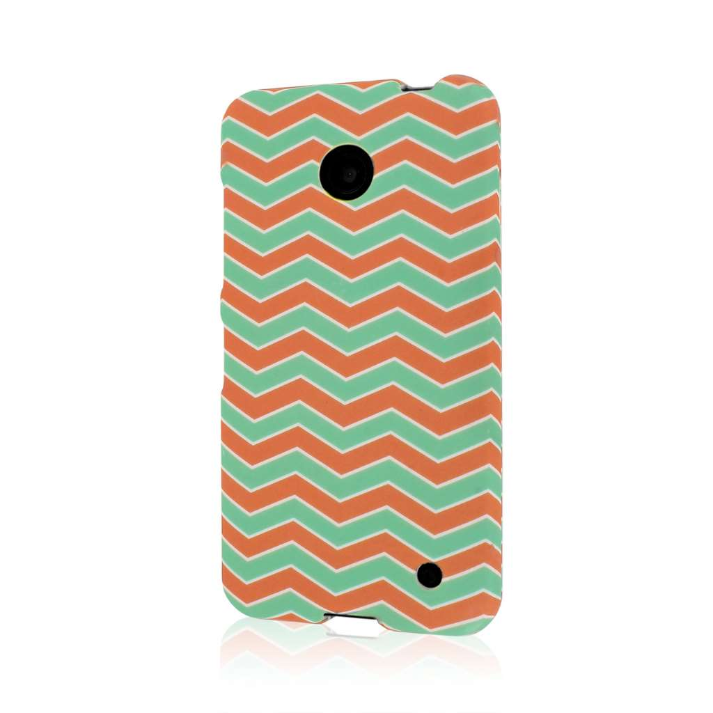 Nokia Lumia 635 - Mint Chevron MPERO SNAPZ - Case Cover