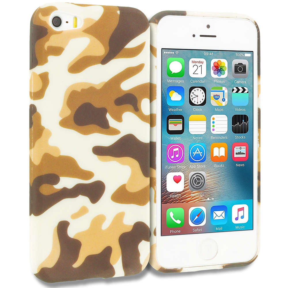 Apple iPhone 5/5S/SE Camo TPU Design Soft Rubber Case Cover