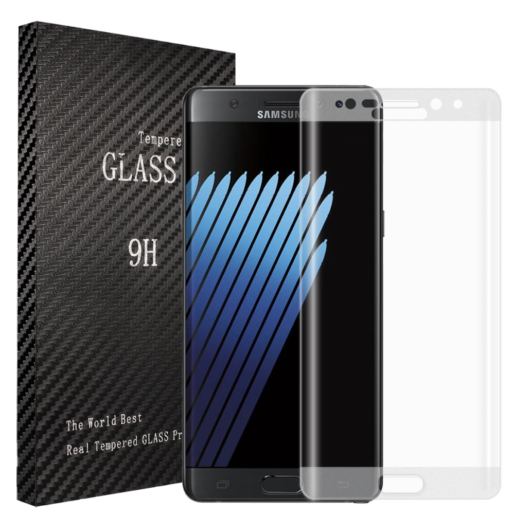 Samsung Galaxy Note 7 Glitter Full Curved Tempered Glass Screen Protector