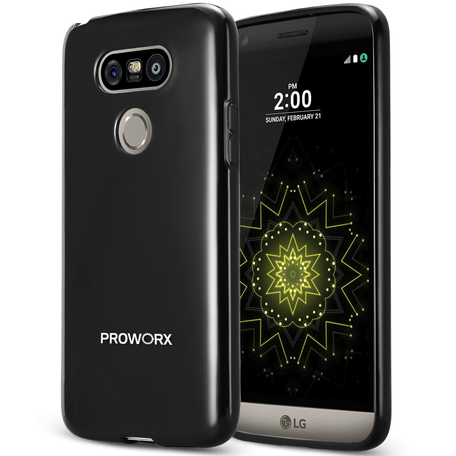 LG G5 Black ProWorx Ultra Slim Thin Scratch Resistant TPU Silicone Case Cover