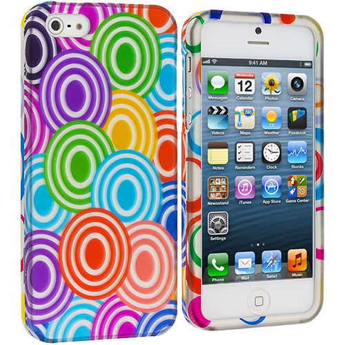 Apple iPhone 5/5S/SE Colorful Lolly Hard Rubberized Design Case Cover