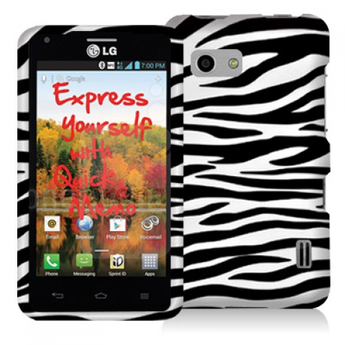 LG Mach LS860 Black / White Zebra Design Crystal Hard Case Cover