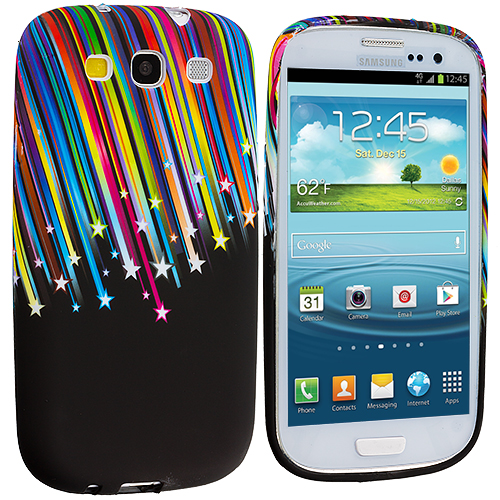 Samsung Galaxy S3 Rainbow Stars TPU Design Soft Case Cover