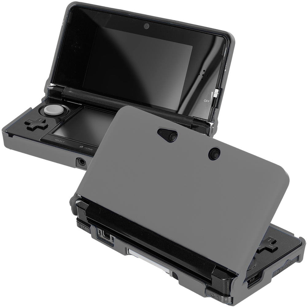 Nintendo 3DS Gray Hard Rubberized Case Cover