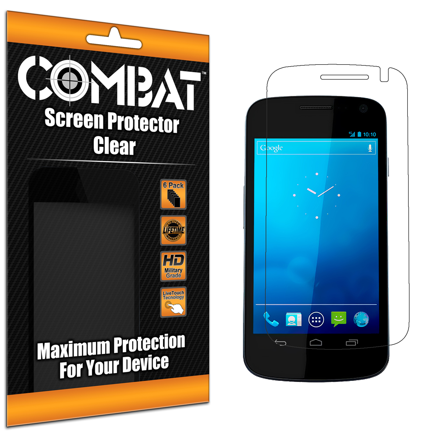 Samsung Droid Prime i515 Combat 6 Pack HD Clear Screen Protector