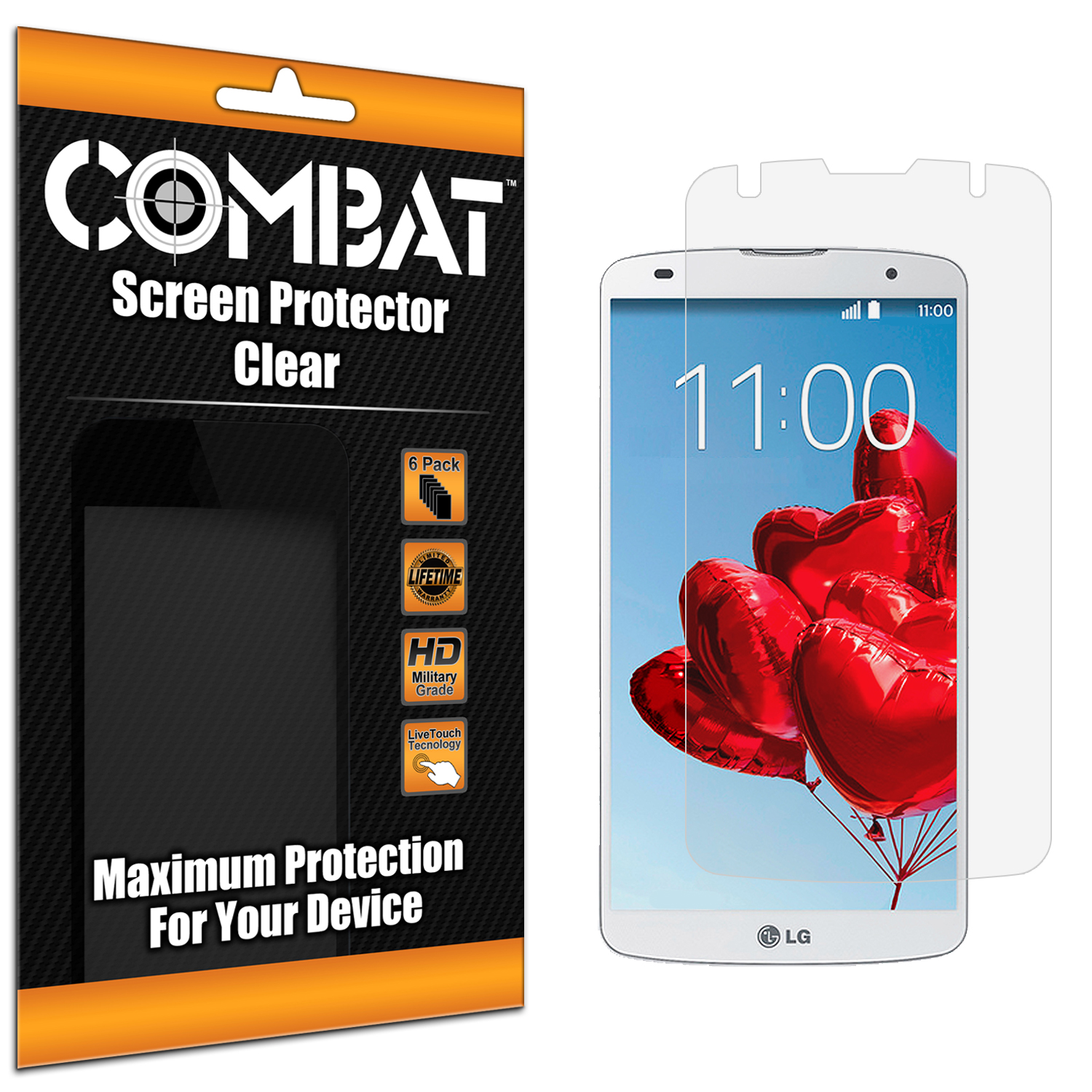 LG G Pro 2 Combat 6 Pack HD Clear Screen Protector