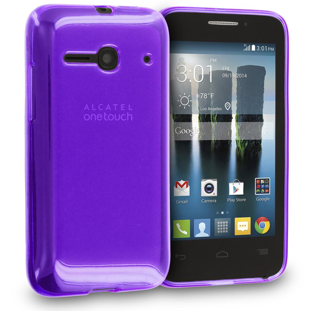 Alcatel One Touch Evolve 2 Purple TPU Rubber Skin Case Cover