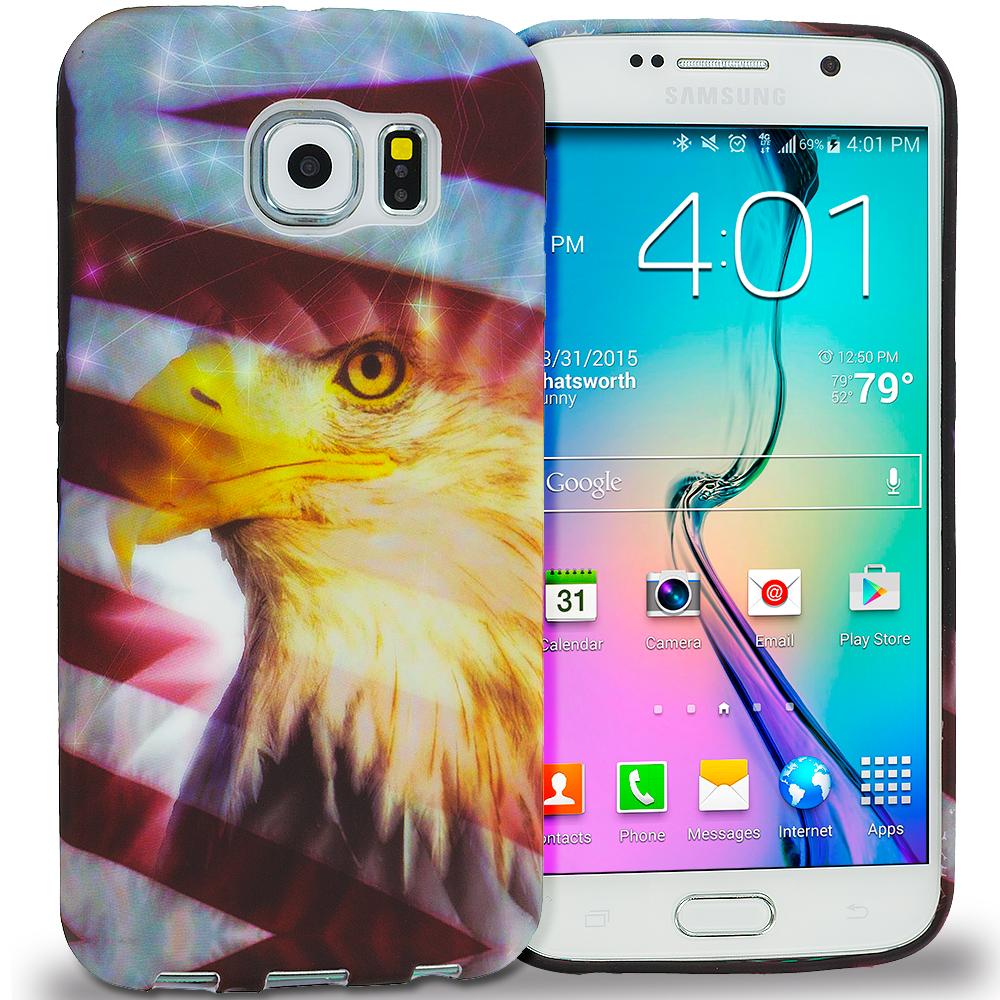 Samsung Galaxy S6 USA Eagle TPU Design Soft Rubber Case Cover