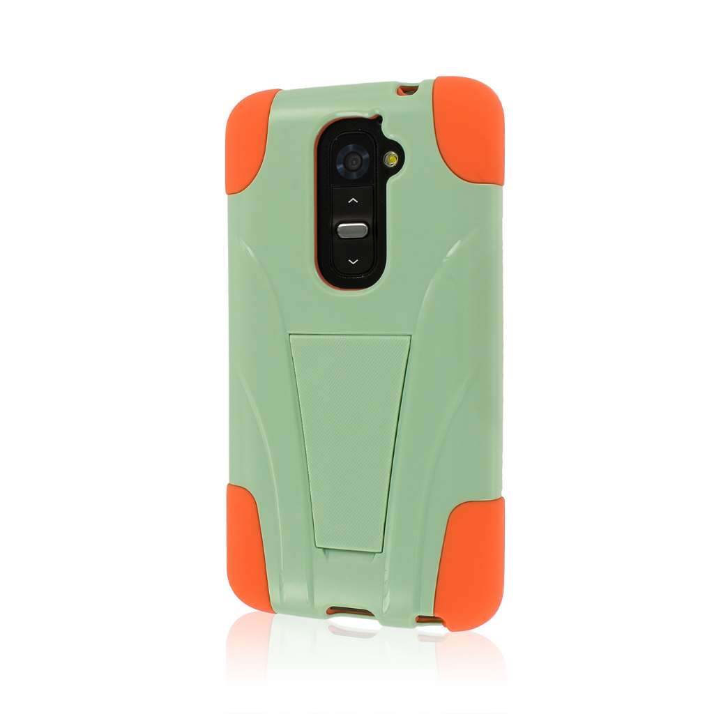 LG G2 - Coral / Mint MPERO IMPACT X - Kickstand Case Cover