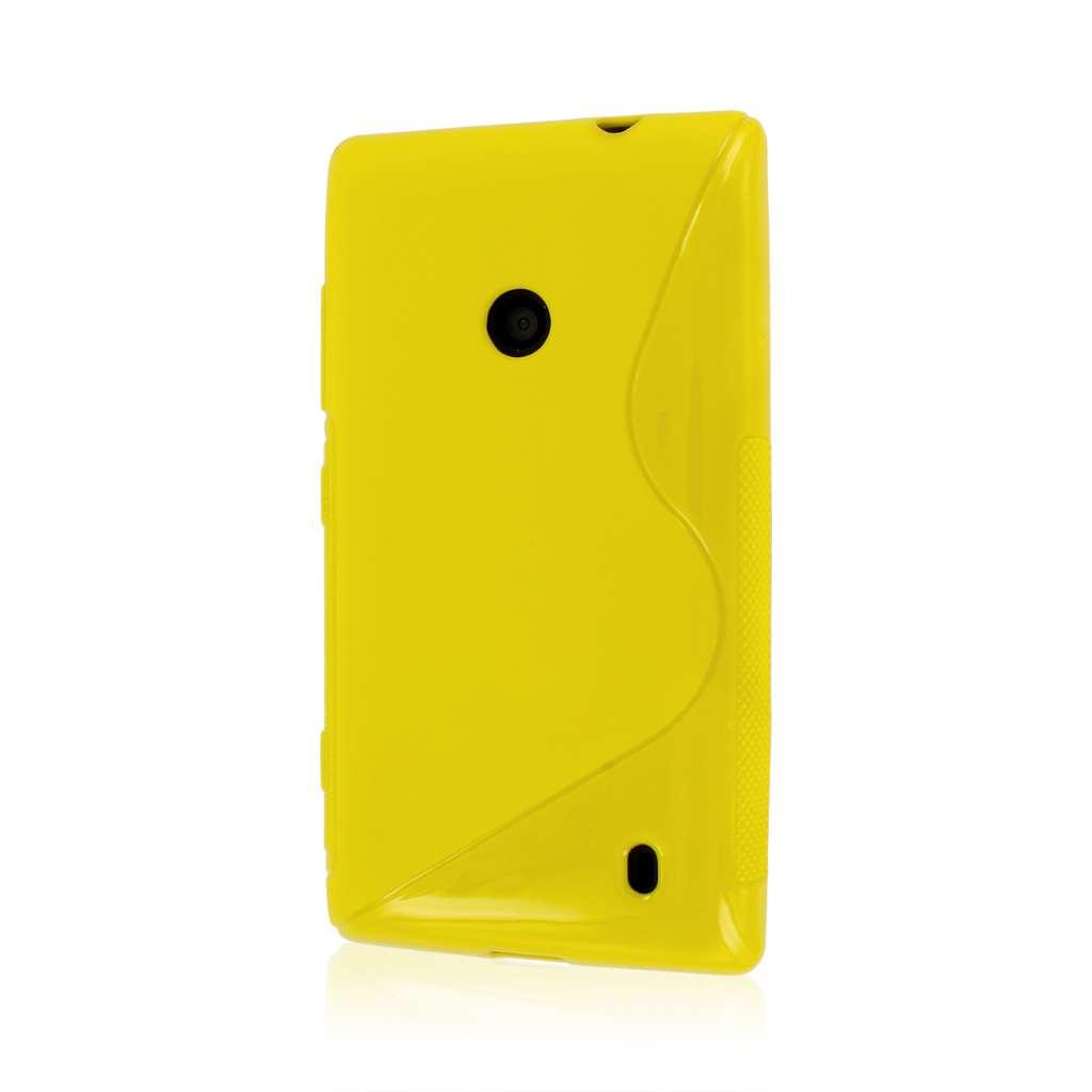 Nokia Lumia 520 - Yellow MPERO FLEX S - Protective Case Cover