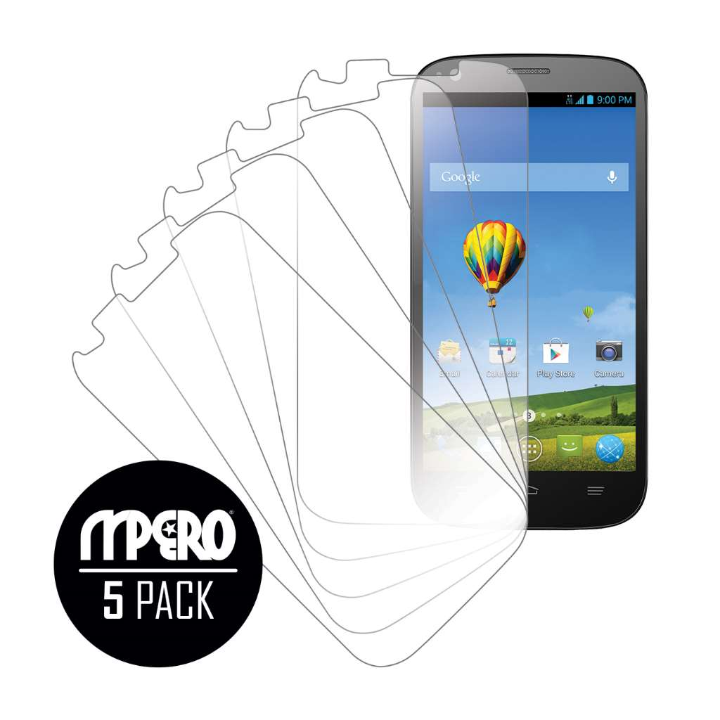 ZTE Grand S Pro MPERO 5 Pack of Ultra Clear Screen Protectors