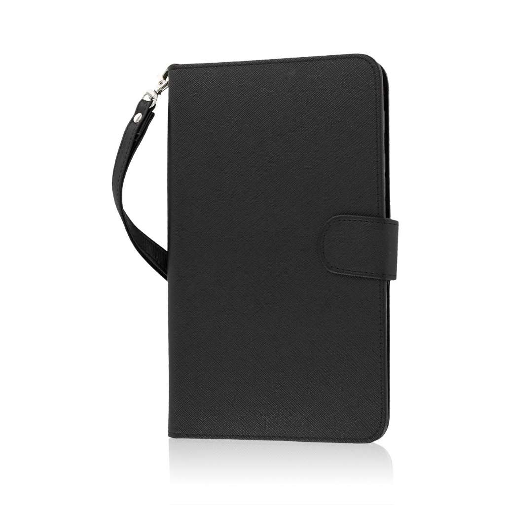 Samsung Galaxy Tab 4 7.0 - Black MPERO FLEX FLIP Wallet Case Cover