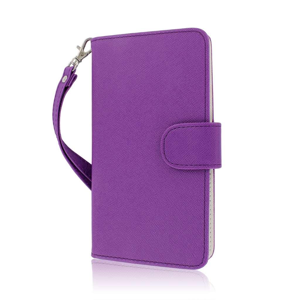 Samsung Galaxy Note 3 N900A N900V N9000 - Purple MPERO FLEX FLIP Wallet Case