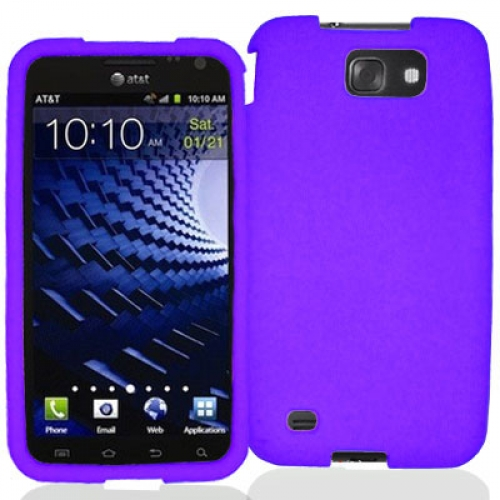 Samsung Skyrocket HD i757 Purple Silicone Soft Skin Case Cover