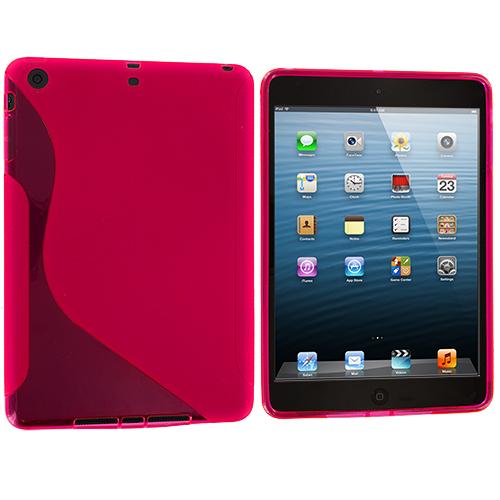 Apple iPad Mini Hot Pink S-Line TPU Rubber Skin Case Cover