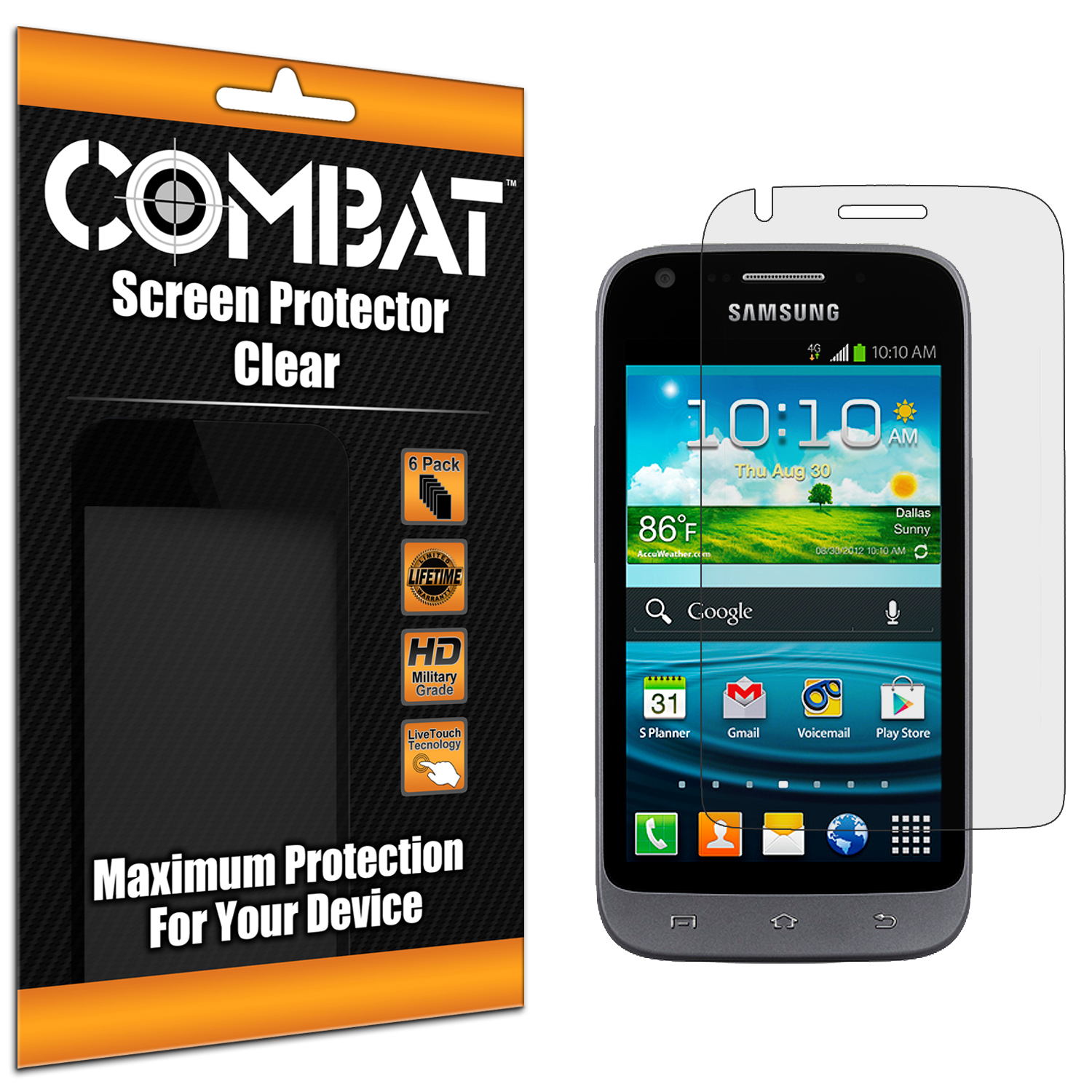 Samsung Galaxy Victory 4G Combat 6 Pack HD Clear Screen Protector