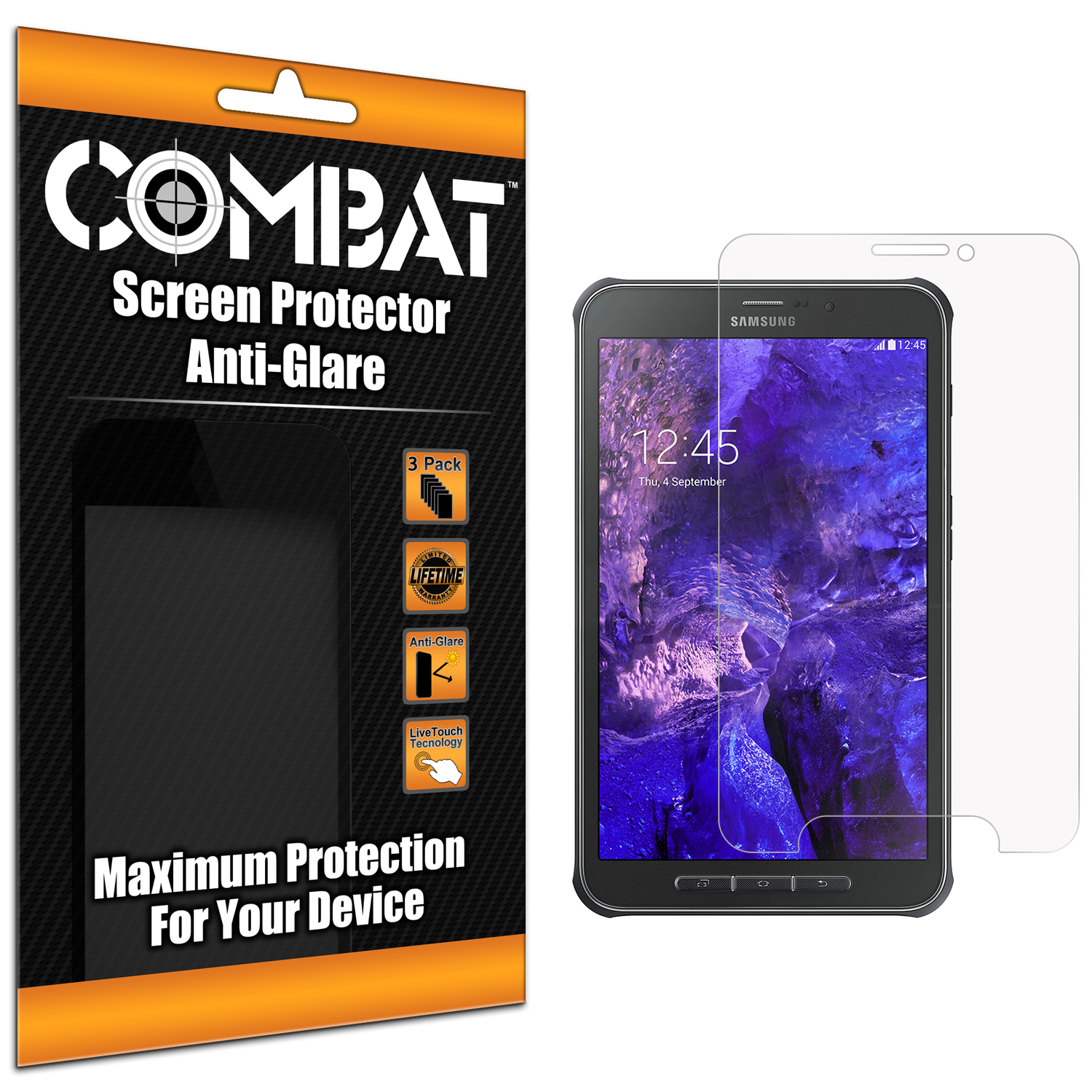 Samsung Galaxy Tab Active Anti Glare Combat 6 Pack Anti-Glare Matte Screen Protector