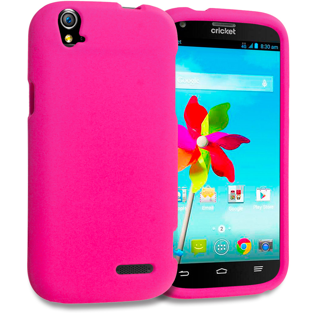 ZTE Grand X Z777 Hot Pink Hard Rubberized Case Cover