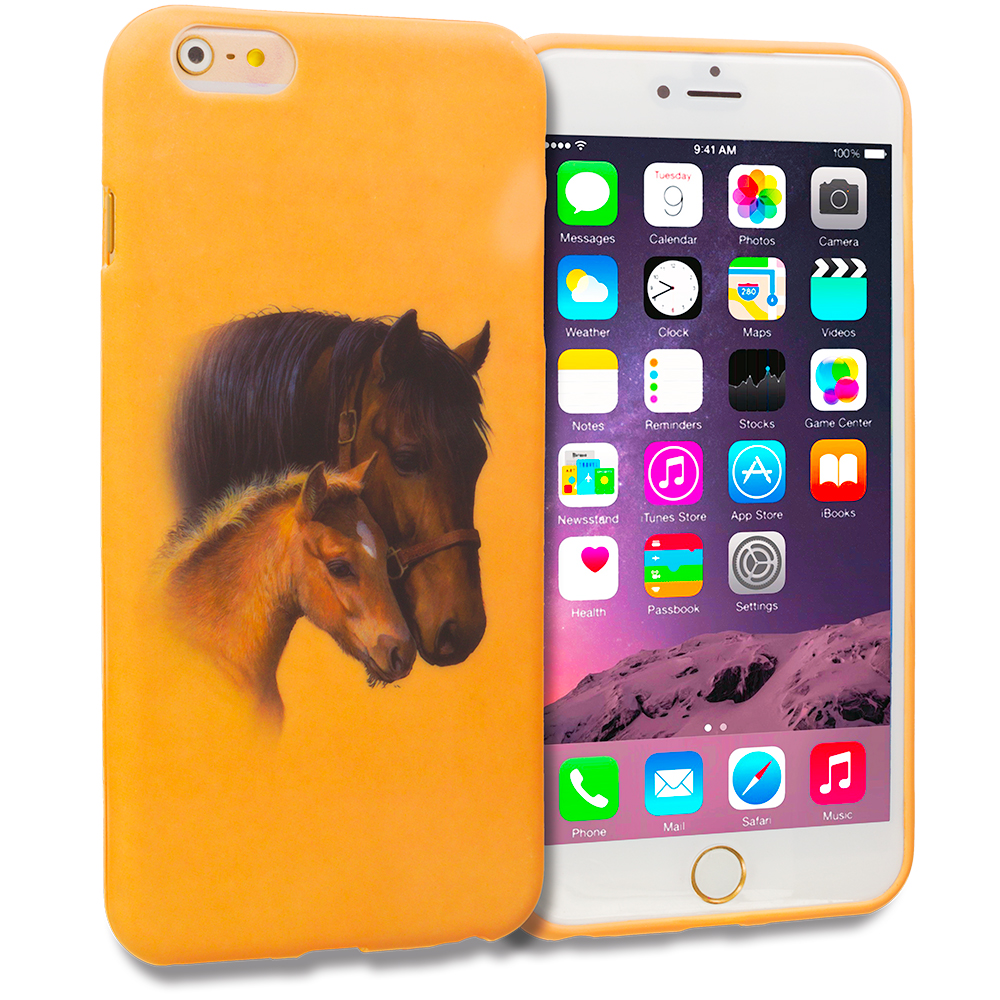 Apple iPhone 6 Plus 6S Plus (5.5) Horse TPU Design Soft Rubber Case Cover