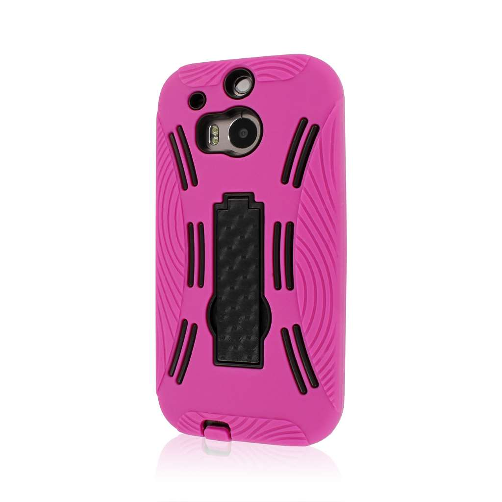 HTC One M8 M8 - Hot Pink MPERO IMPACT XL - Kickstand Case Cover