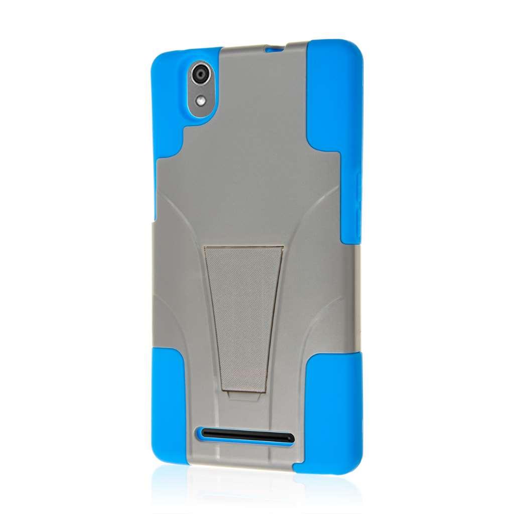 ZTE ZMAX - Blue / Gray MPERO IMPACT X - Kickstand Case Cover