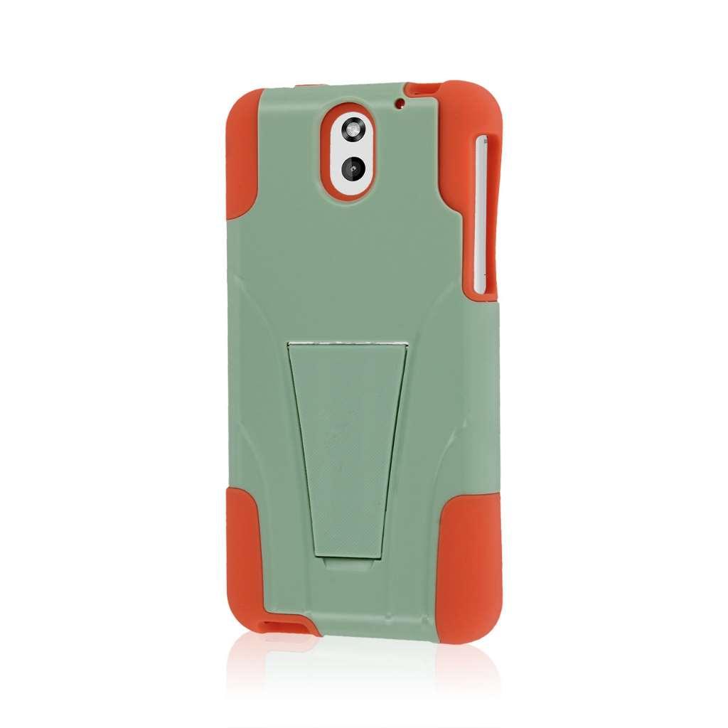 HTC Desire 610 - Coral / Mint MPERO IMPACT X - Kickstand Case Cover