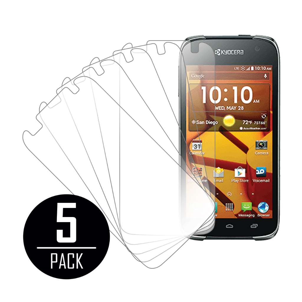 Kyocera Hydro Icon MPERO 5 Pack of Clear Screen Protectors