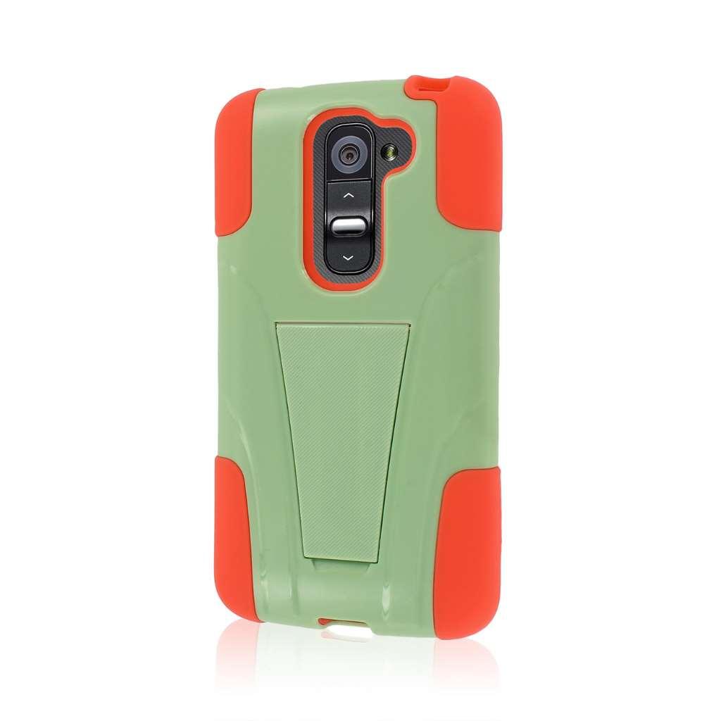 LG G2 Mini - Coral / Mint MPERO IMPACT X - Kickstand Case Cover
