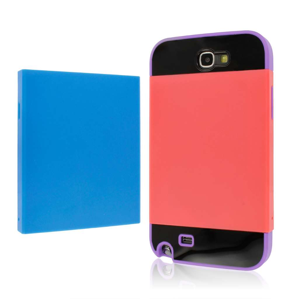 Samsung Galaxy Note 2 Purple Blue Coral MPERO Fusion Fit - Protective Case