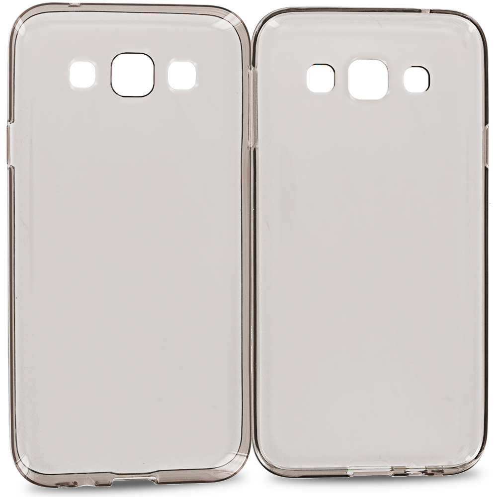 Samsung Galaxy E5 S978L Smoke TPU Rubber Skin Case Cover