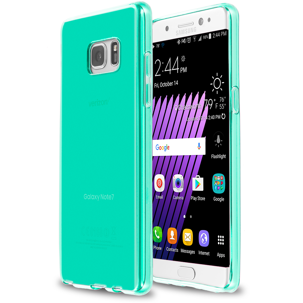 Samsung Galaxy Note 7 Mint Green TPU Rubber Skin Case Cover