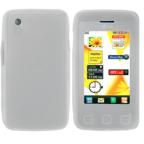 LG Cookie KP500 Clear Silicone Soft Skin Case Cover