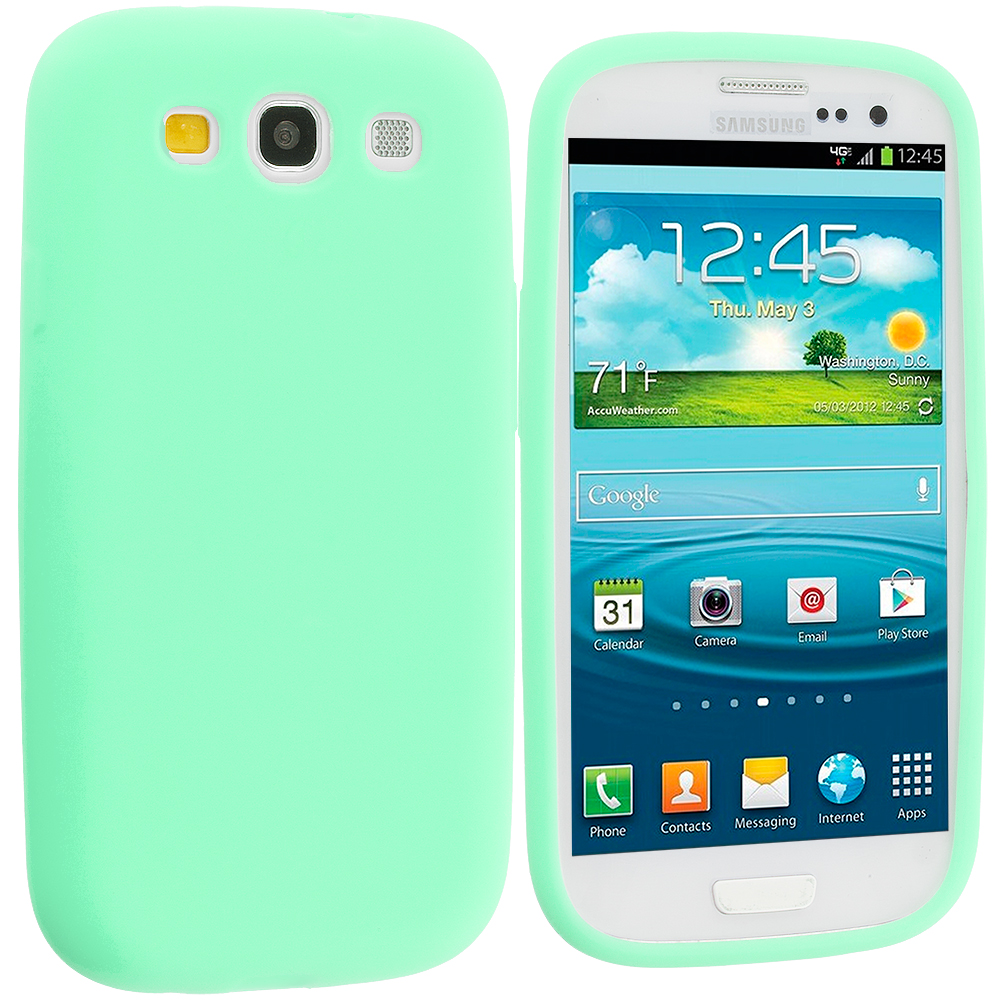 Samsung Galaxy S3 Mint Green Silicone Soft Skin Case Cover