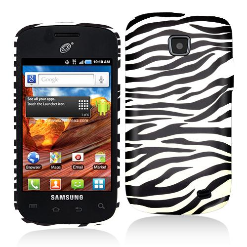 Samsung Proclaim S720C Black/White Zebra Hard Rubberized Design Case Cover