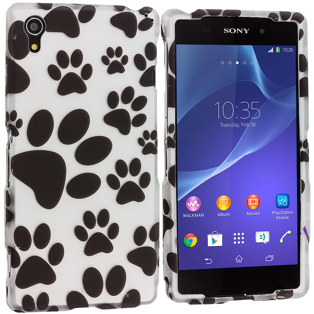 Sony Xperia Z2 Dog Paw 2D Hard Rubberized Design Case Cover