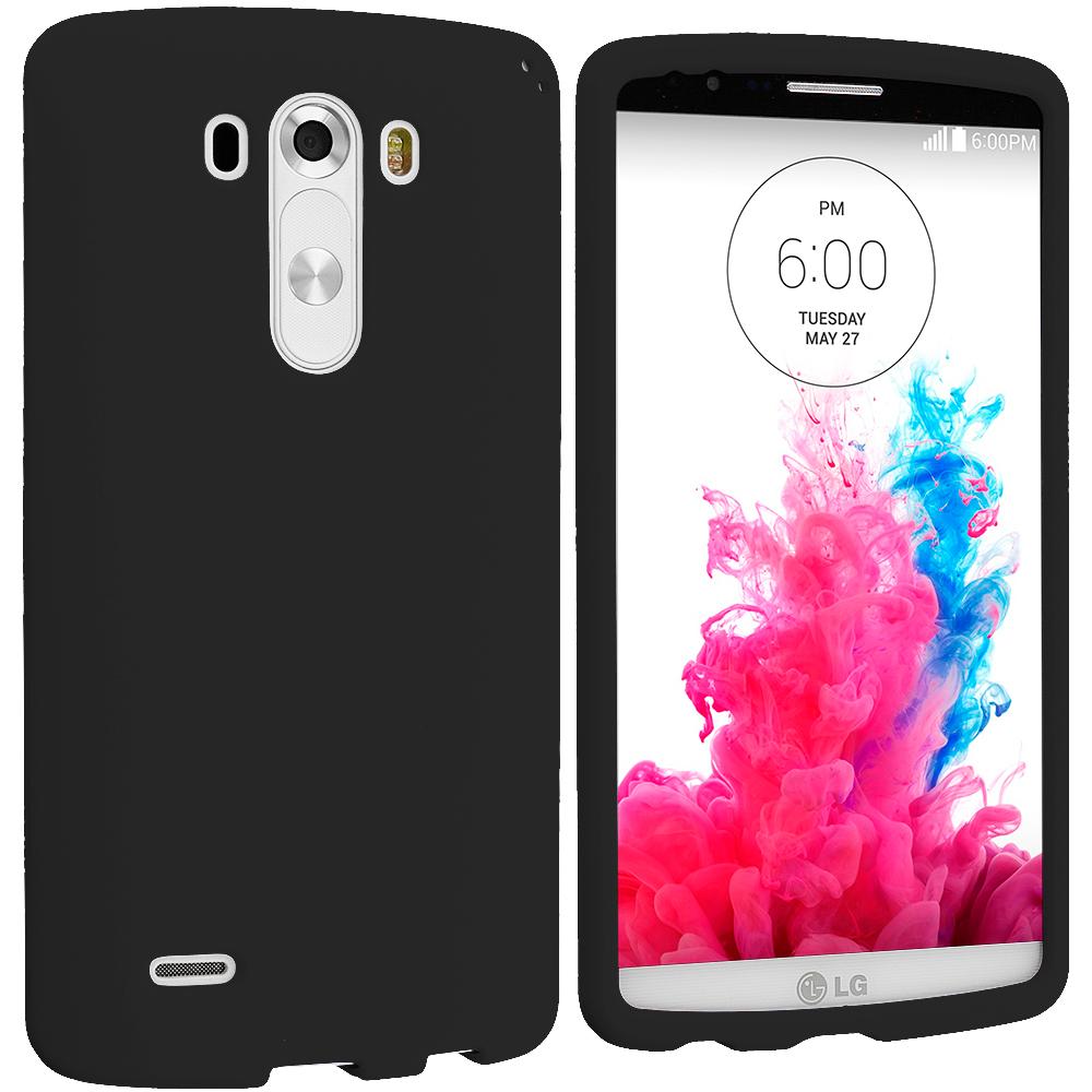 LG G3 Black Hard Rubberized Case Cover