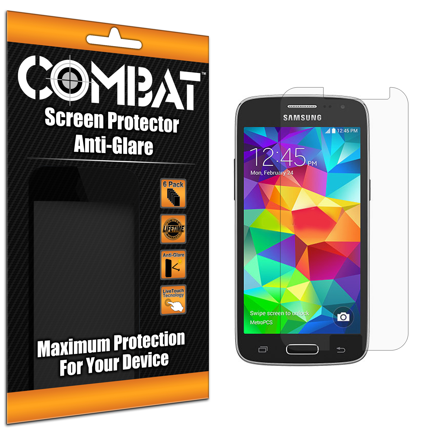 Samsung Galaxy Avant G386 Combat 6 Pack Anti-Glare Matte Screen Protector