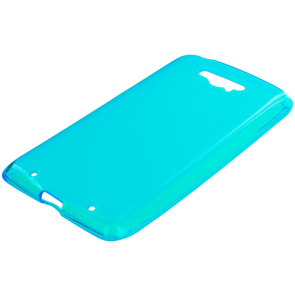 Motorola Droid Turbo Baby Blue TPU Rubber Skin Case Cover