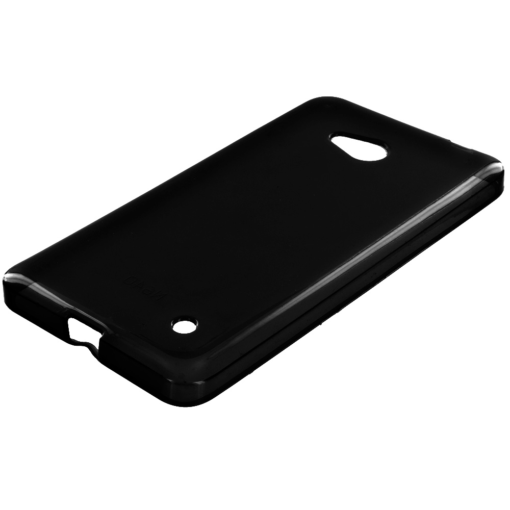 Microsoft Lumia 640 Black TPU Rubber Skin Case Cover