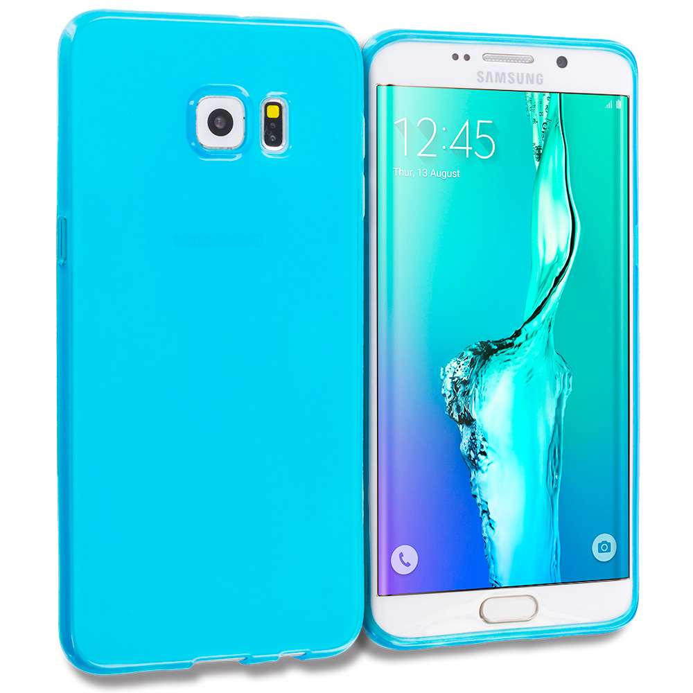 Samsung Galaxy S6 Edge Plus + Baby Blue TPU Rubber Skin Case Cover