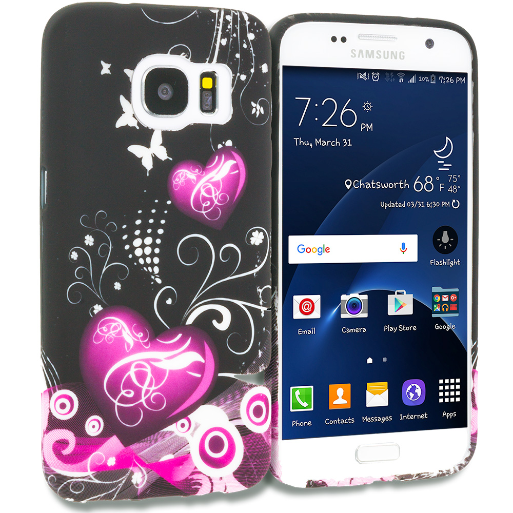 Samsung Galaxy S7 Heart Melody TPU Design Soft Rubber Case Cover