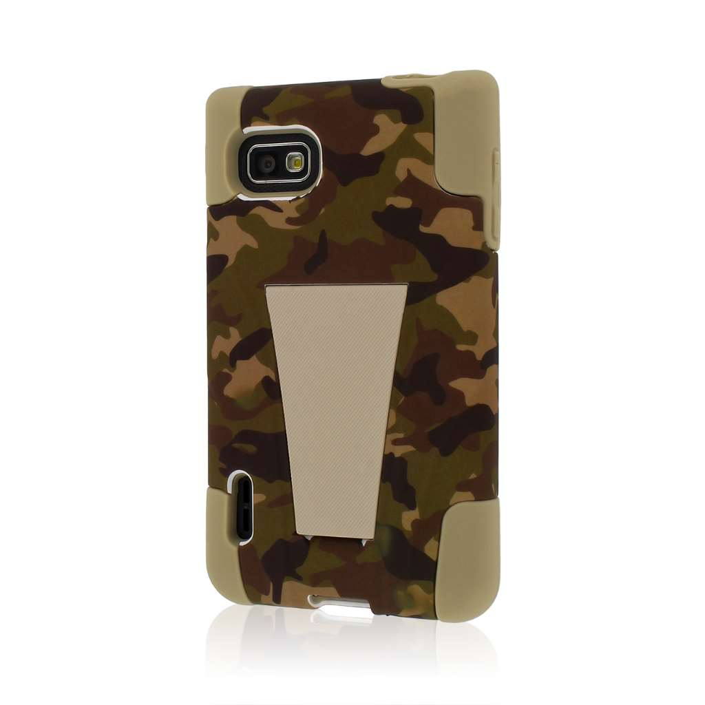 T-Mobile LG Optimus F3 - Hunter Camo MPERO IMPACT X - Kickstand Case Cover