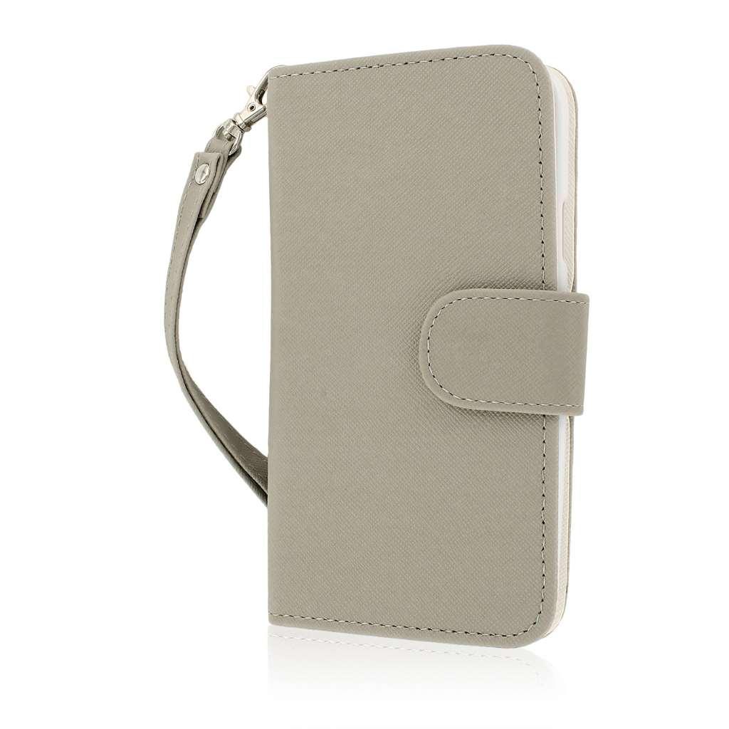 Samsung Galaxy S5 - Gray MPERO FLEX FLIP Wallet Case Cover