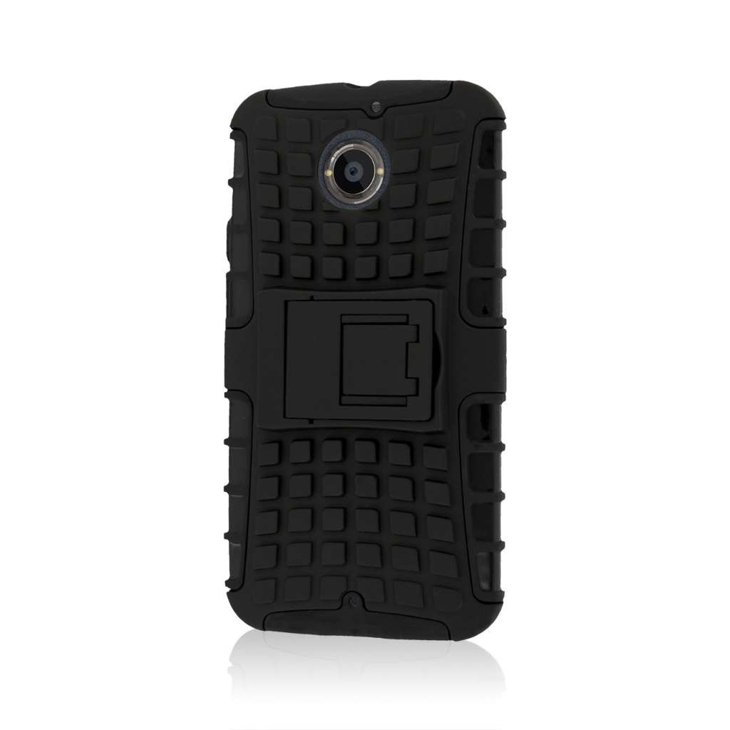 Motorola Moto X 2014 2nd Gen - Black MPERO IMPACT SR - Kickstand Case Cover