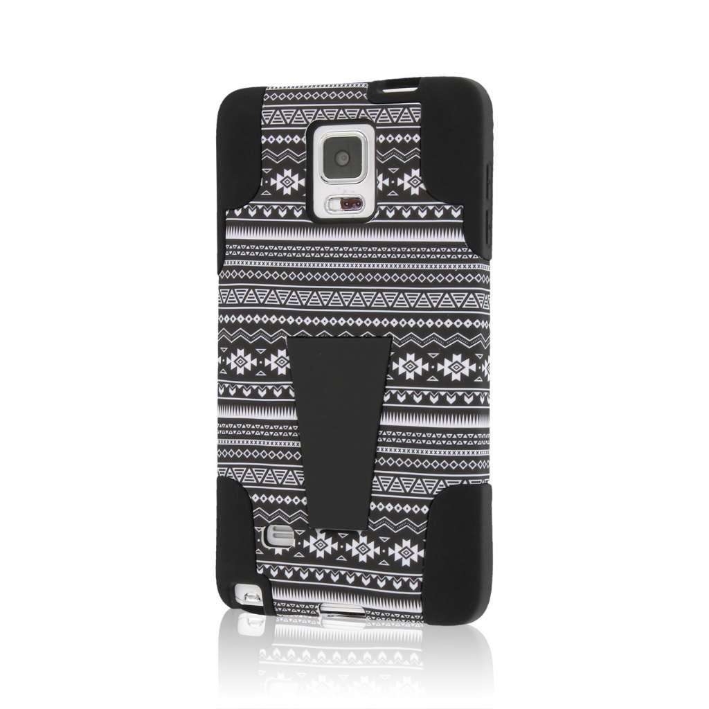 Samsung Galaxy Note 4 - Black Aztec MPERO IMPACT X - Kickstand Case Cover