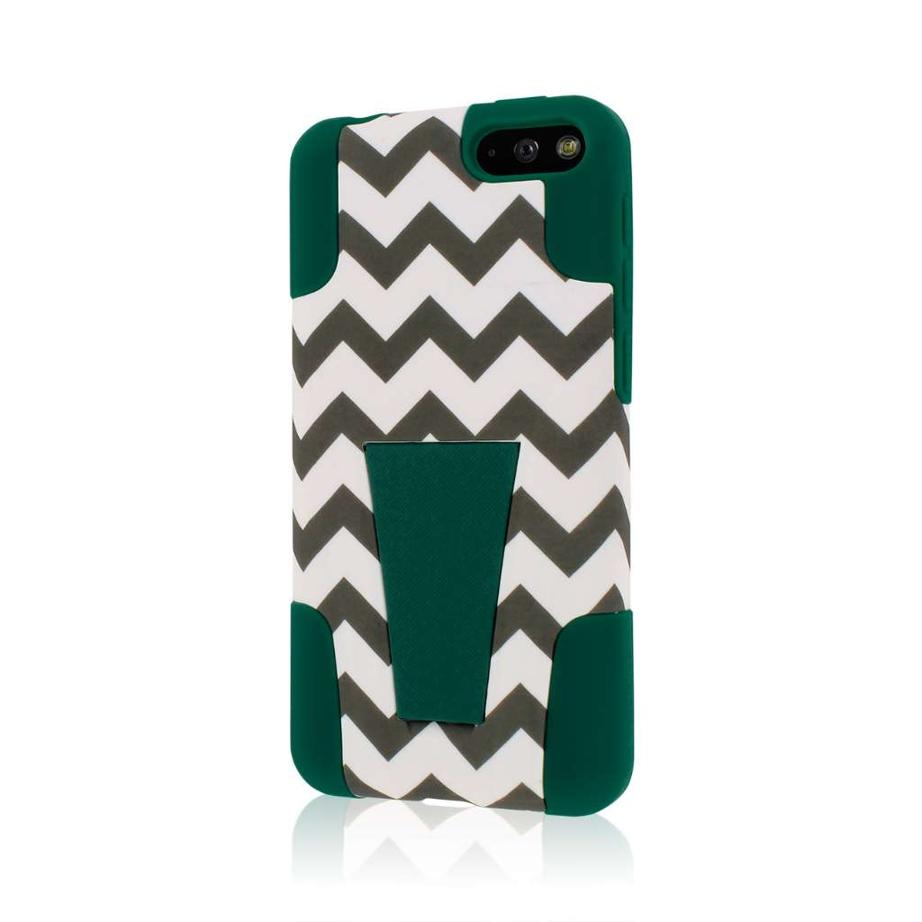 Amazon Fire Phone - Teal Chevron MPERO IMPACT X - Kickstand Case Cover